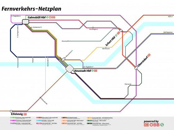 Fernverkehrs-Netzplan meiner Karte
