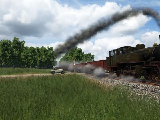 Güterzug auf dem Weg nach Oberhausen