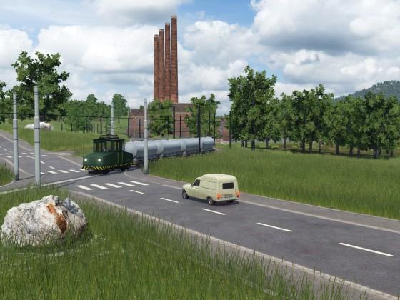 Werkbahn bringt Treibstoff in die Stadt