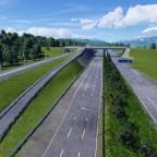 A1 mit parallel verlaufender Schnellfahrstrecke