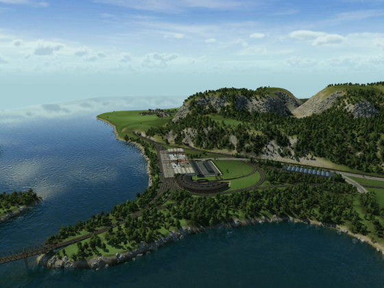Bauanfang des Industriegebietes Inverness 3