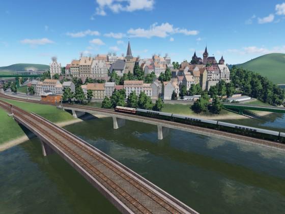 Erstes Viertel einer neuen Stadt im Aufabu.