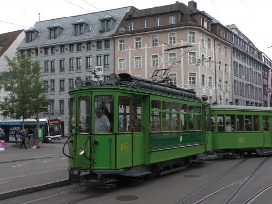 Museums Trämli auf dem Claraplatz