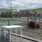 E/e 3 mit Alstadt und Engelberg im Hintergrund