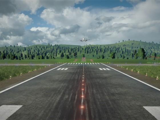 A320 landing