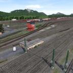 Blick von der Hauptstrecke