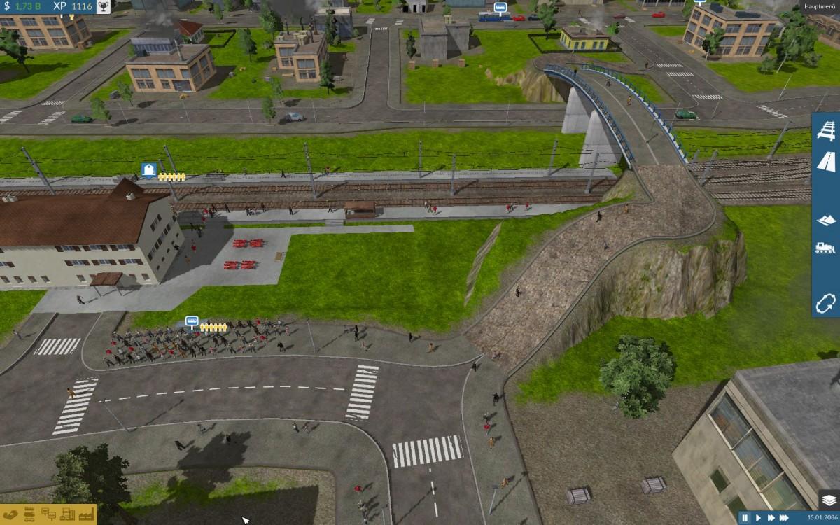 Fußgängerzonen und Brücken