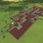Industrie Gebiet von oben
