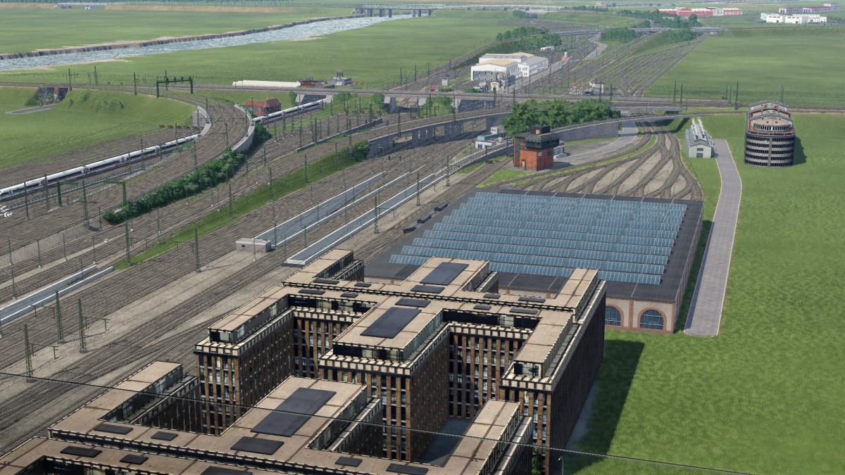 Blick auf die Gleisanlagen Frankfurt Hbf