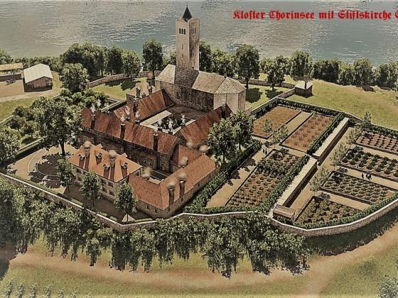 Kloster Chorinsee mit Stiftskirche St.Hildegard