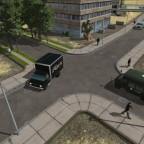 USA Erweiterung Großstadt Straße mit Platten weg