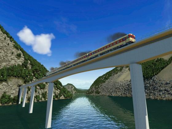 Japanese concrete bridge - Continuous frame bridge