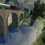 42 auf Viadukt-Überfahrt