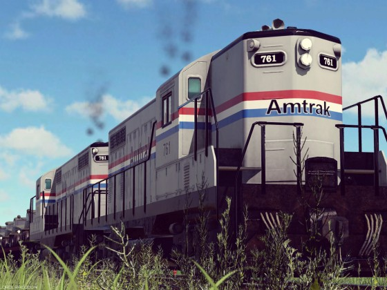 Amtrak GP9 with studebakers for export