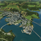 Vu d'ensemble de la Capitale Régionale et de sa banlieue