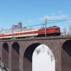 """ÖBB 1046.020-2 mit Regionalzug am """"Hochbrucken-Viadukt"""""""