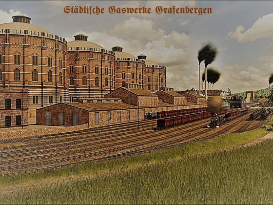 Die städtischen Gaswerke Grafenbergen