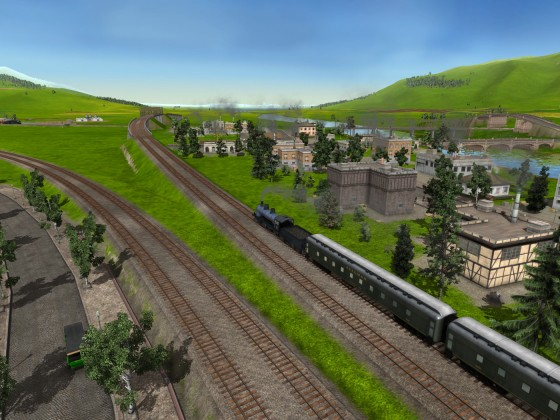 Schotten Bahnhof Ausfahrt Richtung Hüfingen