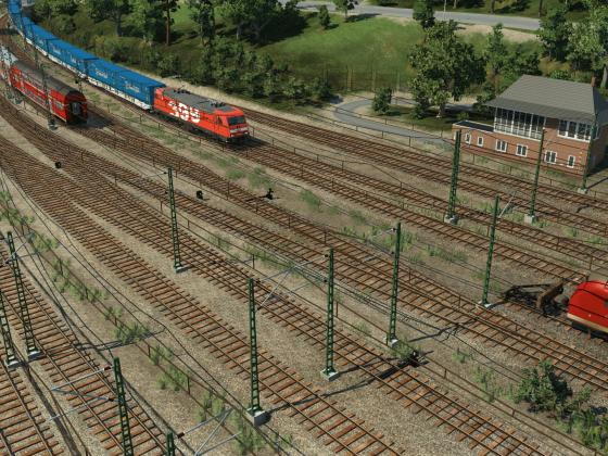 Einfahrt in Buxtehude (fiktiv)
