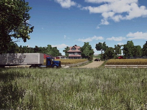 Kenworth W900 on the countryside