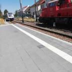 Lint 54 des Erixx und Voith Gravita der DB mit einem angehängten Snps in Gifhorn Stadt