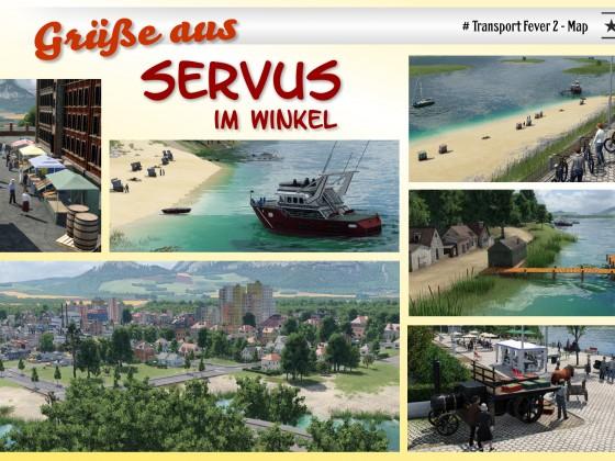 Postkarte Servus im Winkel