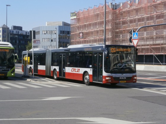 MAN Lion's City GL der CFL am Busbahnhof in Luxemburg