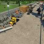 Einfahrtsbereich zum Güterterminal