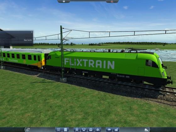 Flixtrain Zwaggons mit Siemens Taurus