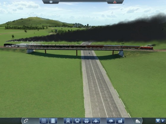 Einer der Sonderzüge auf der wiedererrichteten Brücke der Bahnstrecke Schkeuditz - Pfaffenstein