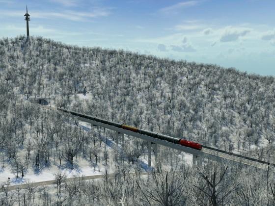 Winterliche Fernzüge