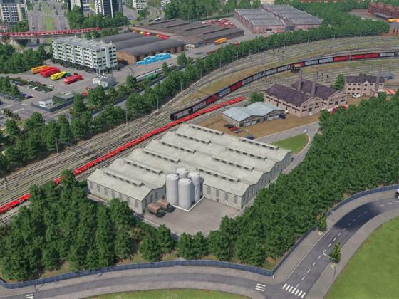 Güterbahnhof Freifeld (Osteinfahrt)