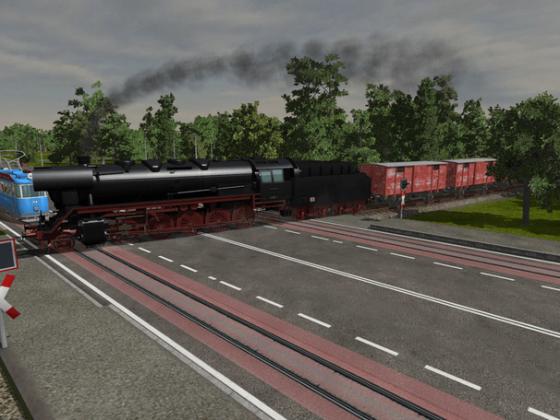 44er mit Güterzug