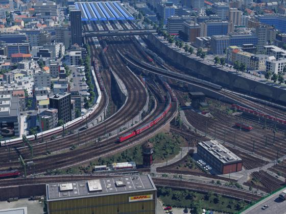Bahnhofseinfahrt Ludwigstadt