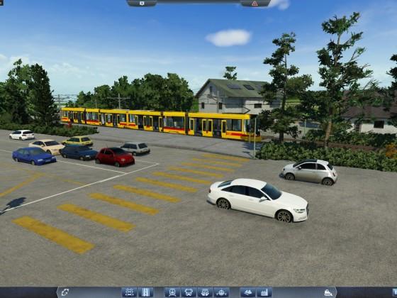 Erste Tramstation im Schönbau
