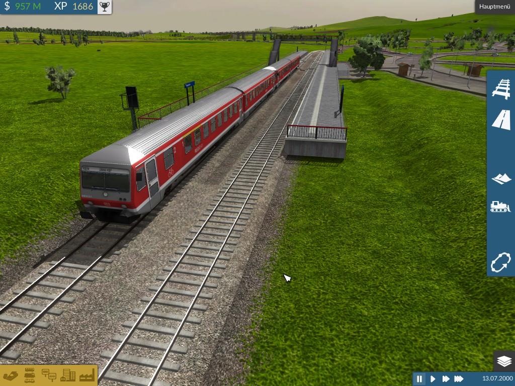Nebenbahnstation mit BR 628