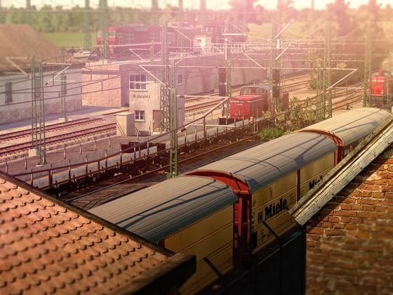 Blick auf den Bahnhof.