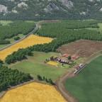 Drohnenflug über dem Bauernhof