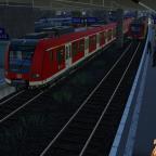Die S-Bahn-Gleise