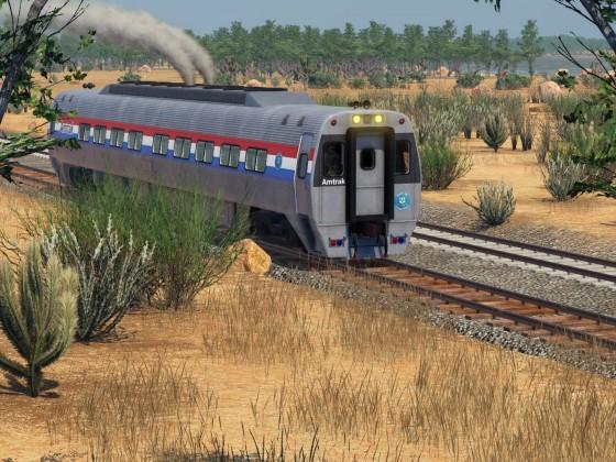 Ein Budd SPV-2000 unterwegs auf Testfahrt in Kalifornien