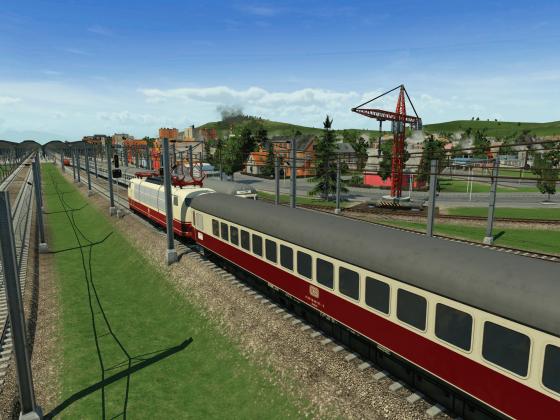 IC kreuzt S-Bahn am HBF