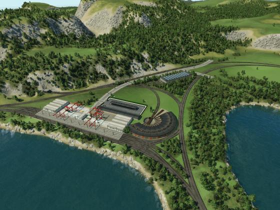 Bauanfang des Industriegebietes Inverness 1