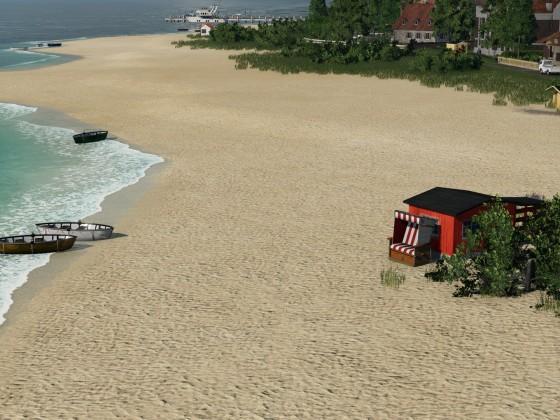 Am unbelebten Strand