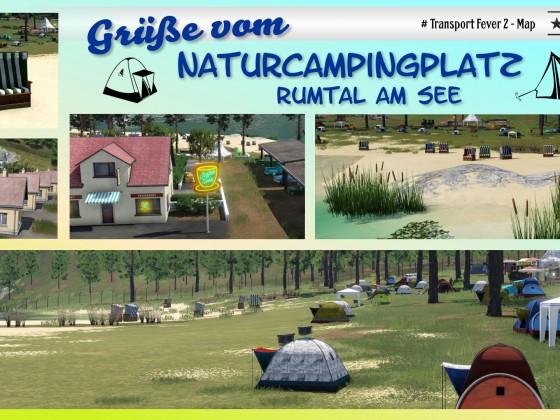 Postkarte Naturcampingplatz