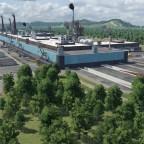 Stahlwerk Renschberg mit 2 Innenliegenden Haltestellen.