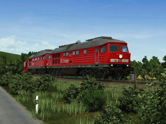 2x BR 232 Richtung Braunkohlenbergwerk
