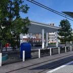 Blick vom Überlandtrambahnsteig / View form the overland tram station