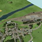 Fertig gestellter Hauptbahnhof in Dabrun (selbst kreiert)
