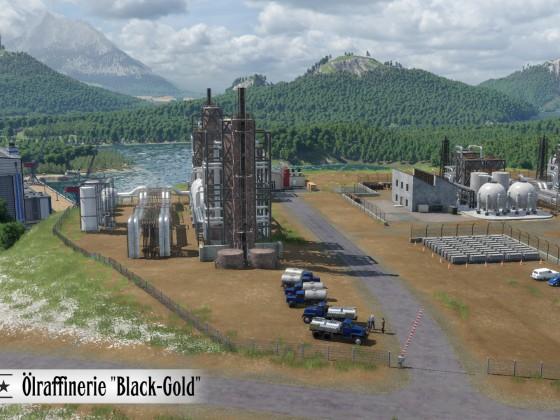 Ölraffinerie Black Gold