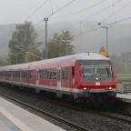 Ankunft in Fornsbach mit einem RE nach TSHT(Schwäbisch Hall-Hessental)